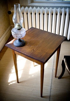 Emily's writing desk - a gift from her father